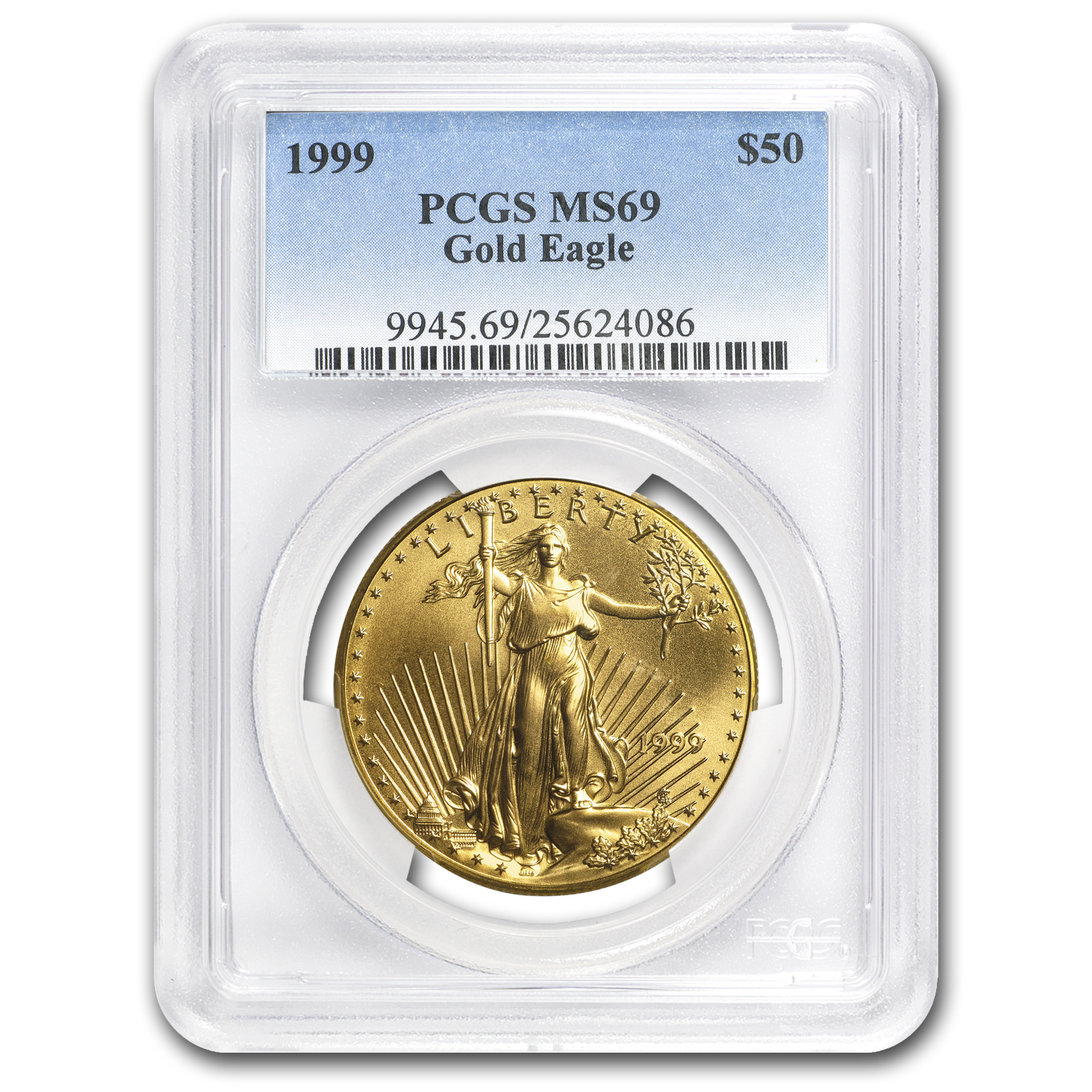 1999 1 oz Gold American Eagle MS-69 PCGS