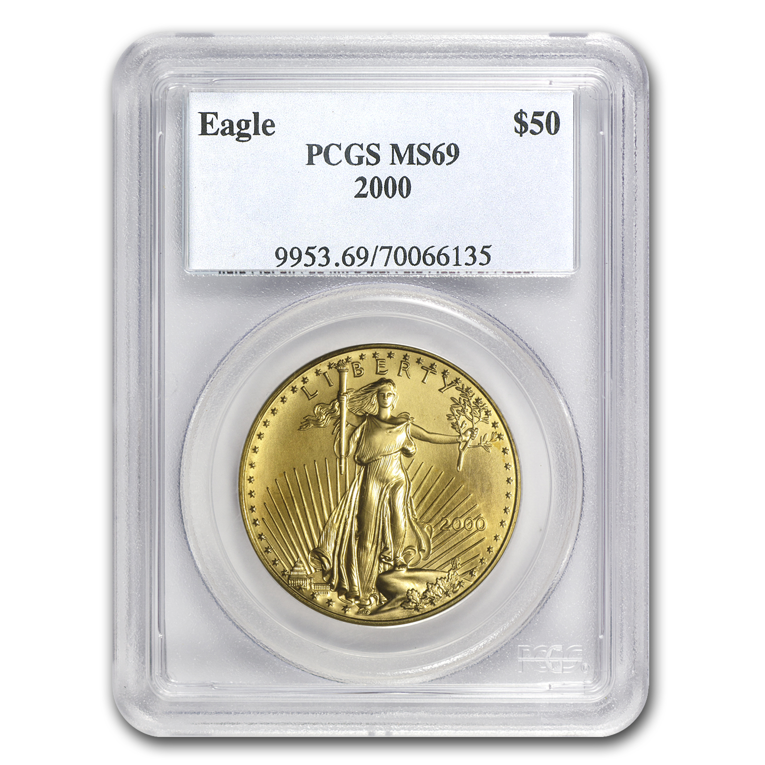 2000 1 oz Gold American Eagle MS-69 PCGS