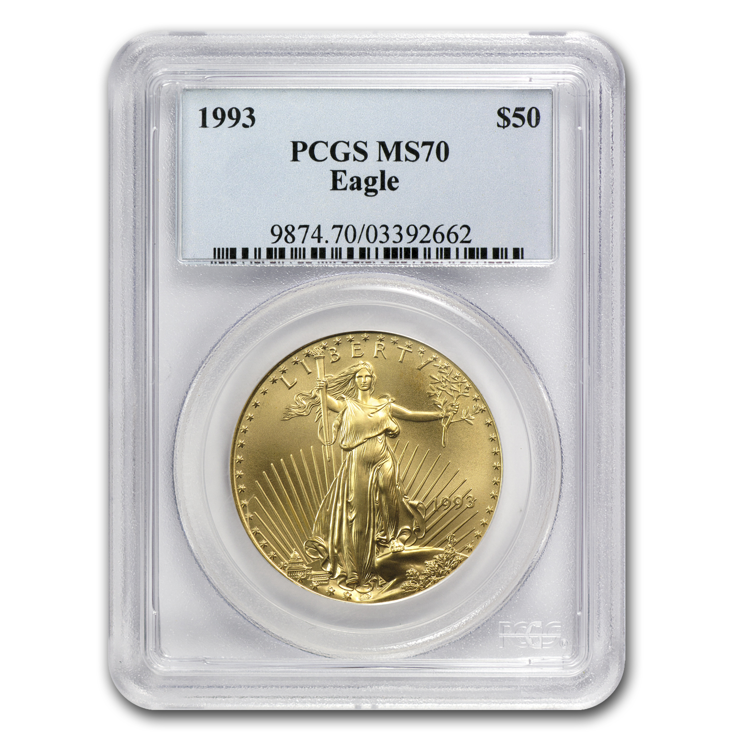 1993 1 oz Gold American Eagle MS-70 PCGS (Registry Coin)
