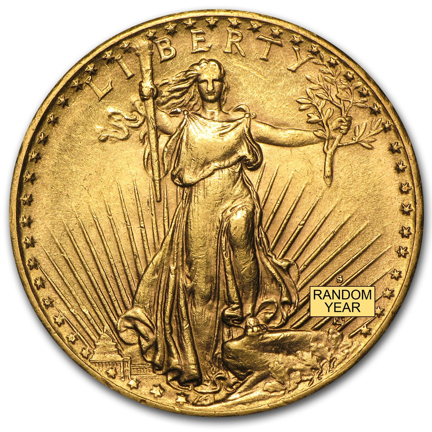 $20 St. Gaudens Gold Double Eagle Almost Uncirculated