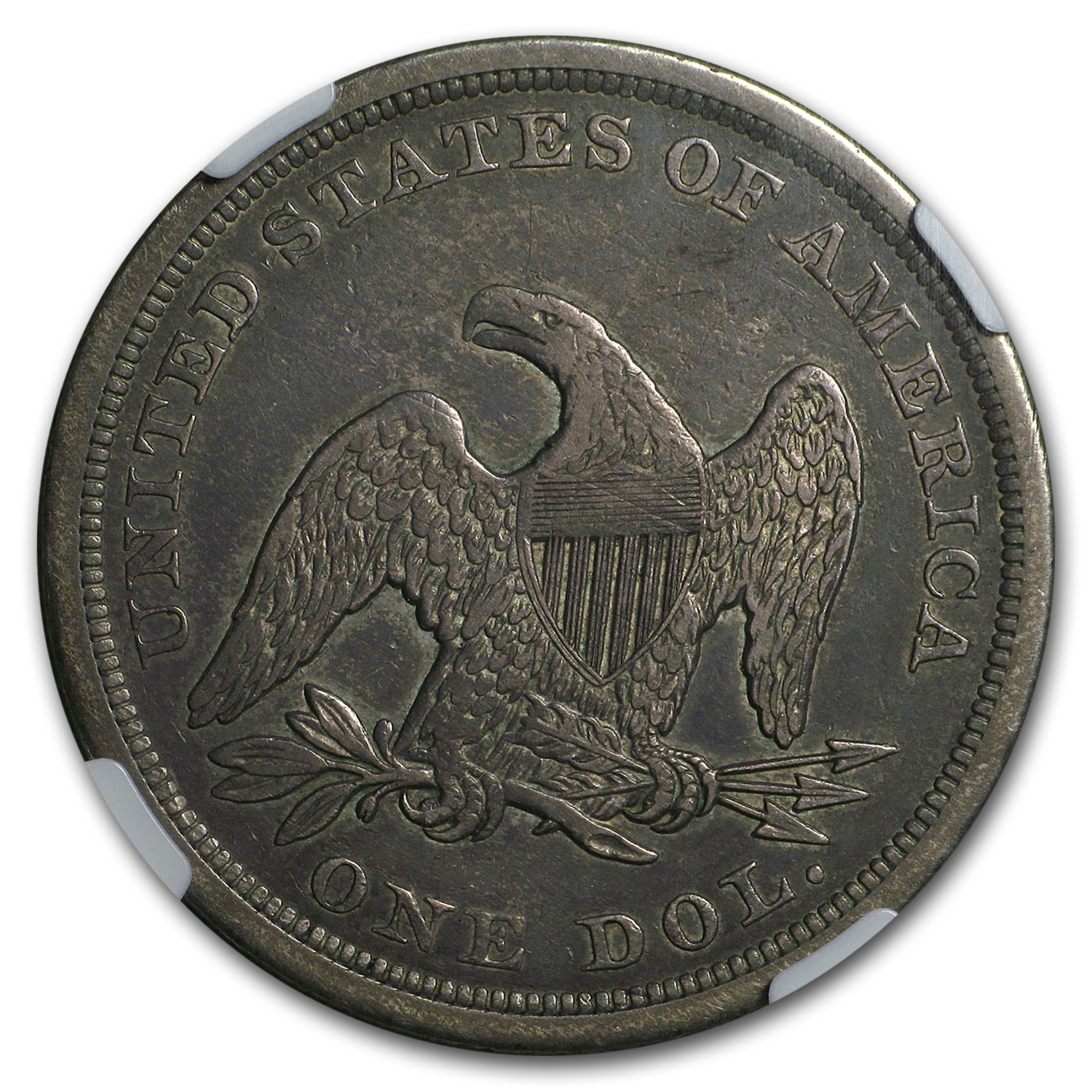 1842 Liberty Seated Dollar XF-40 NGC