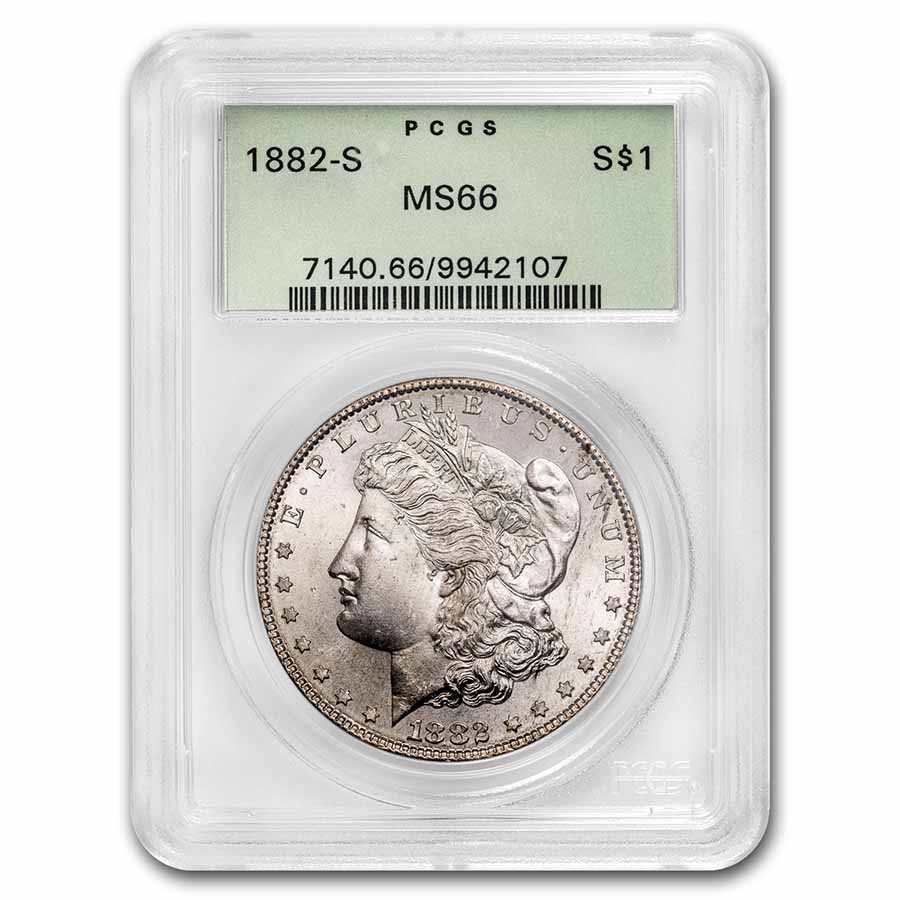 1882-S Morgan Dollar MS-66 PCGS
