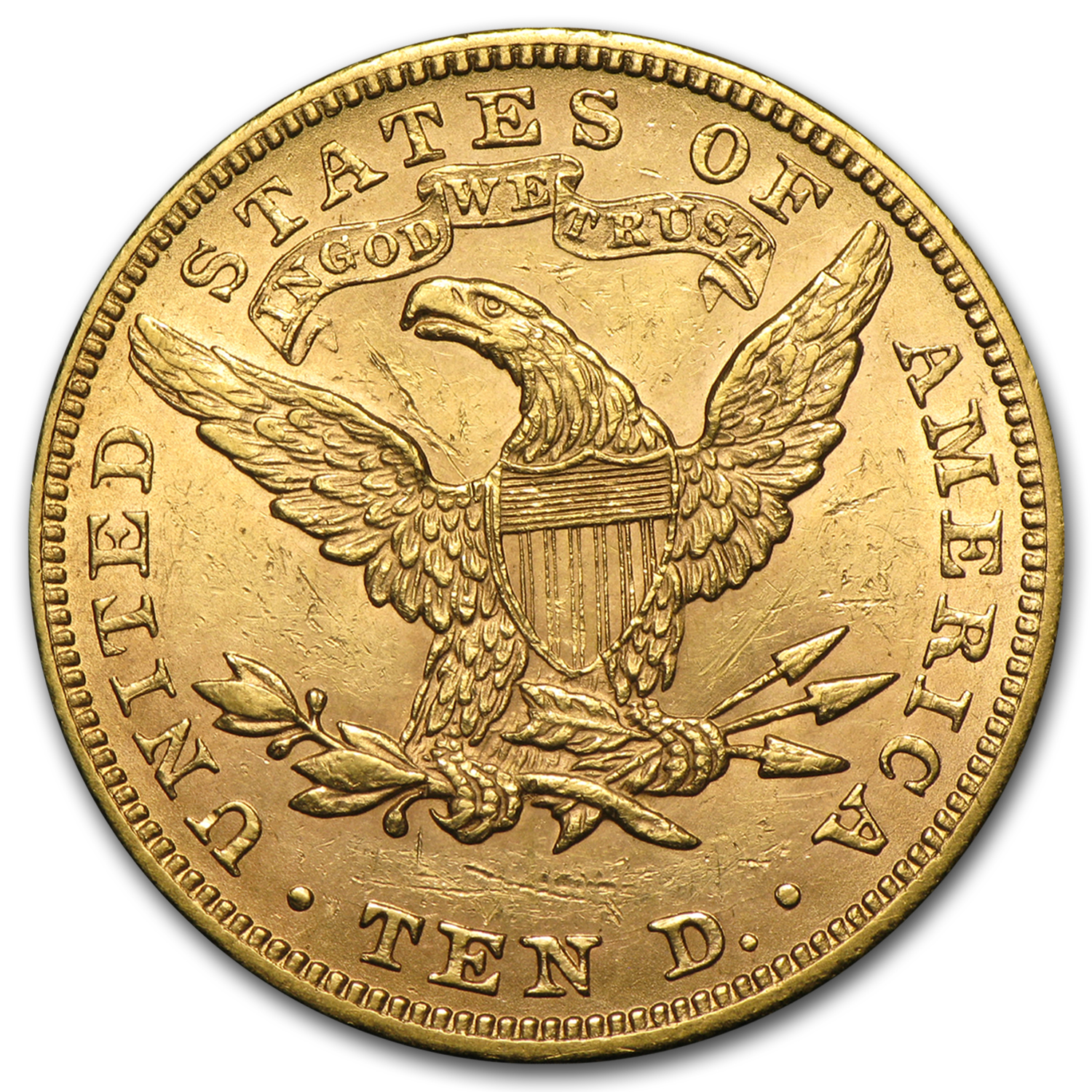 $10 Liberty Gold Eagle - Almost Uncirculated