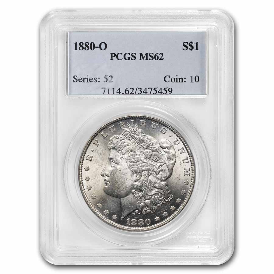 1880-O Morgan Dollar MS-62 PCGS