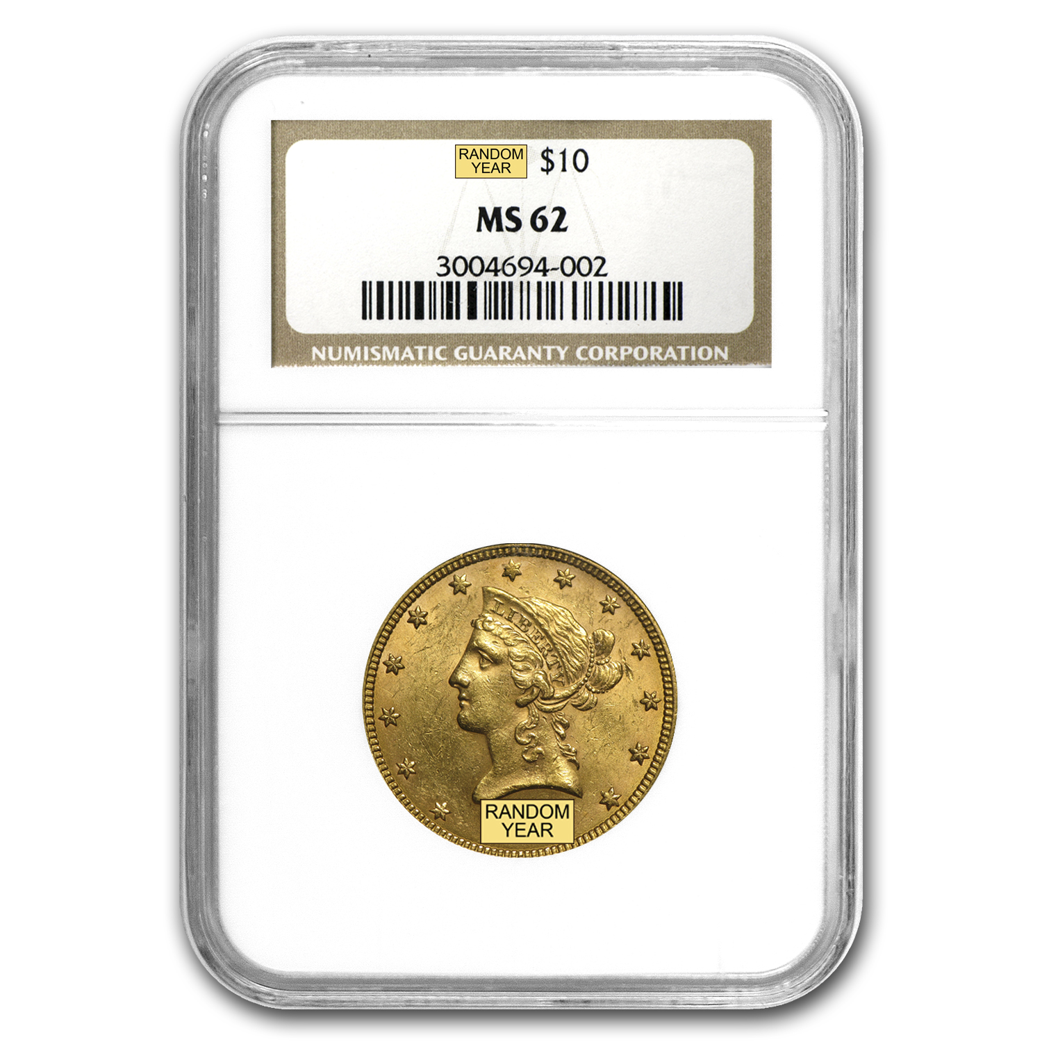 $10 Liberty Gold Eagle MS-62 NGC (Random)