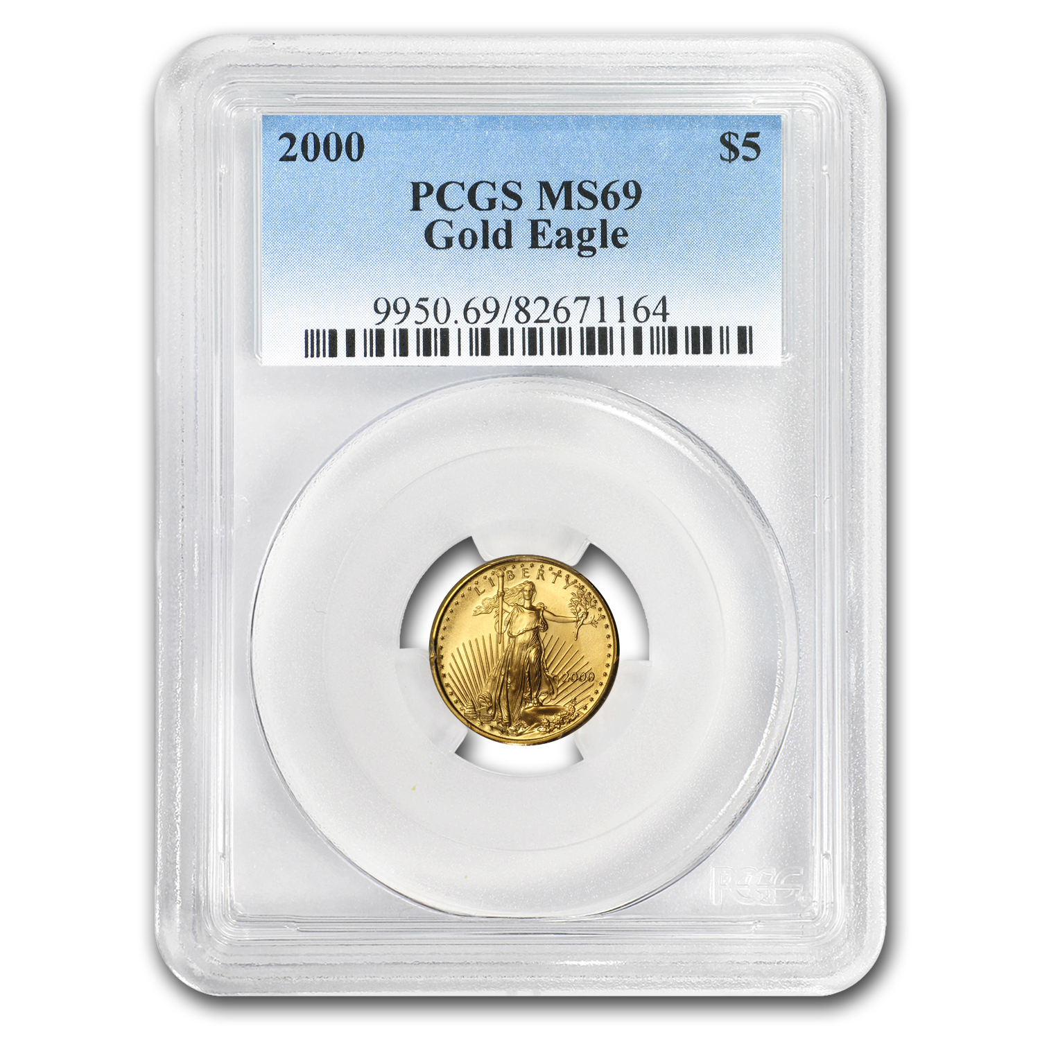 2000 1/10 oz Gold American Eagle MS-69 PCGS