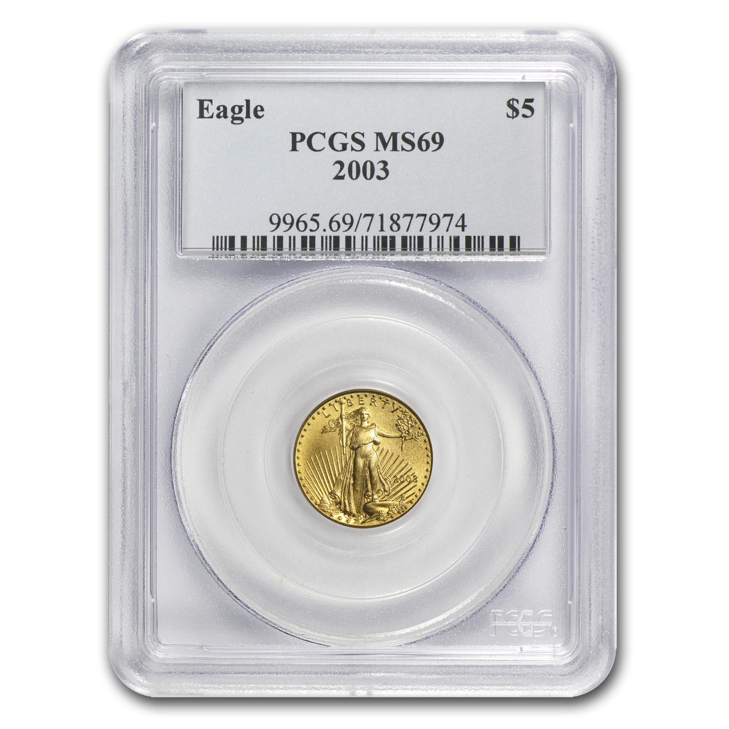 2003 1/10 oz Gold American Eagle MS-69 PCGS