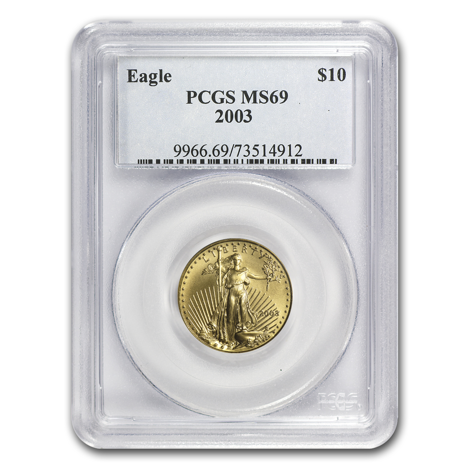 2003 1/4 oz Gold American Eagle MS-69 PCGS