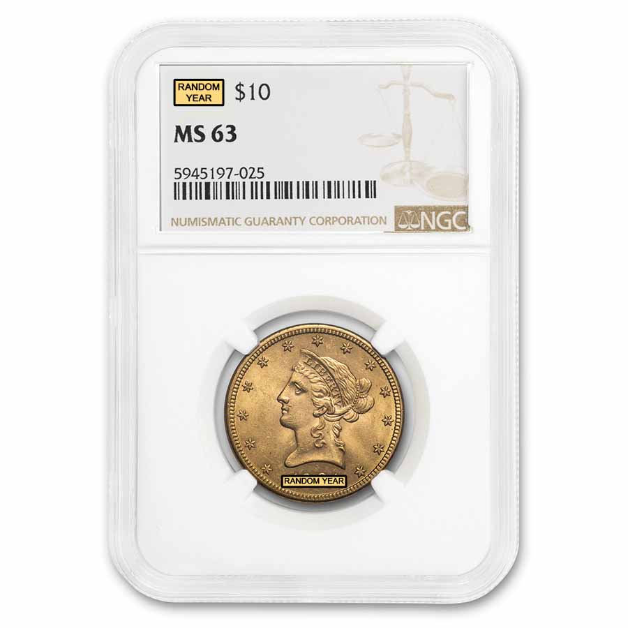 $10 Liberty Gold Eagle MS-63 NGC