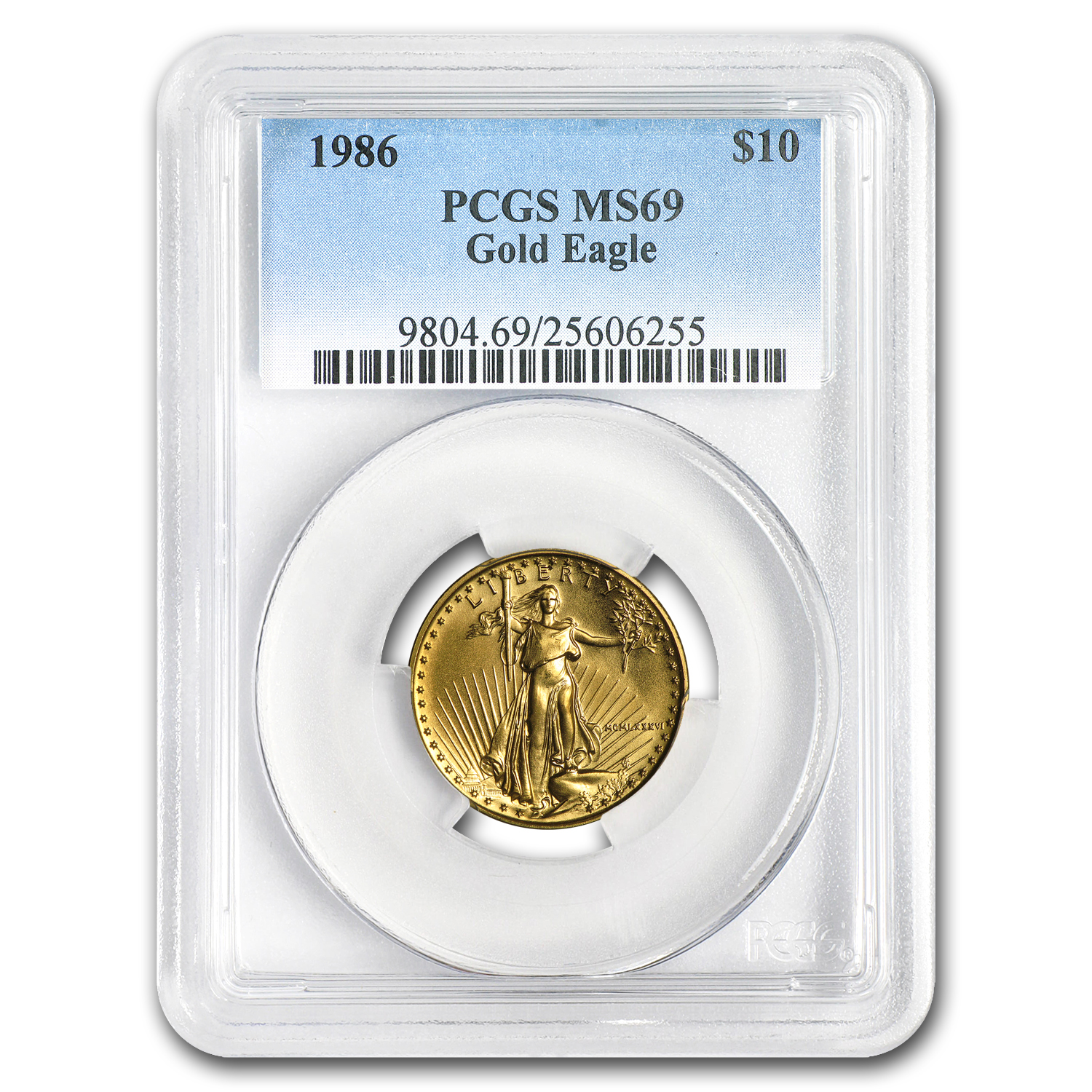 1986 1/4 oz Gold American Eagle MS-69 PCGS