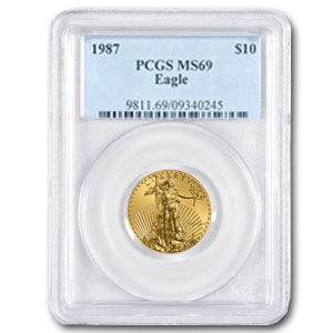 1987 1/4 oz Gold American Eagle MS-69 PCGS