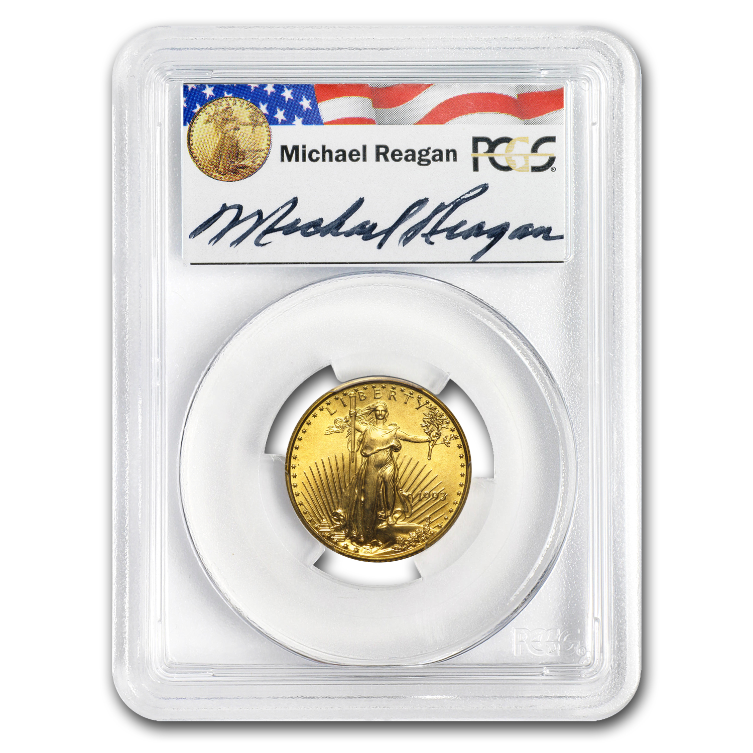 1993 1/4 oz Gold American Eagle MS-69 PCGS