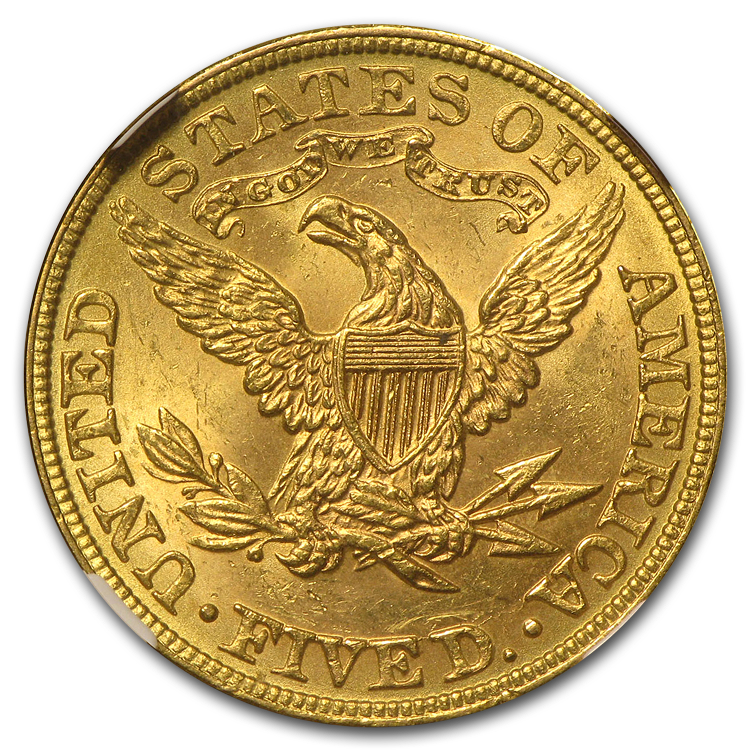 $5 Liberty Gold Half Eagle MS-63 NGC