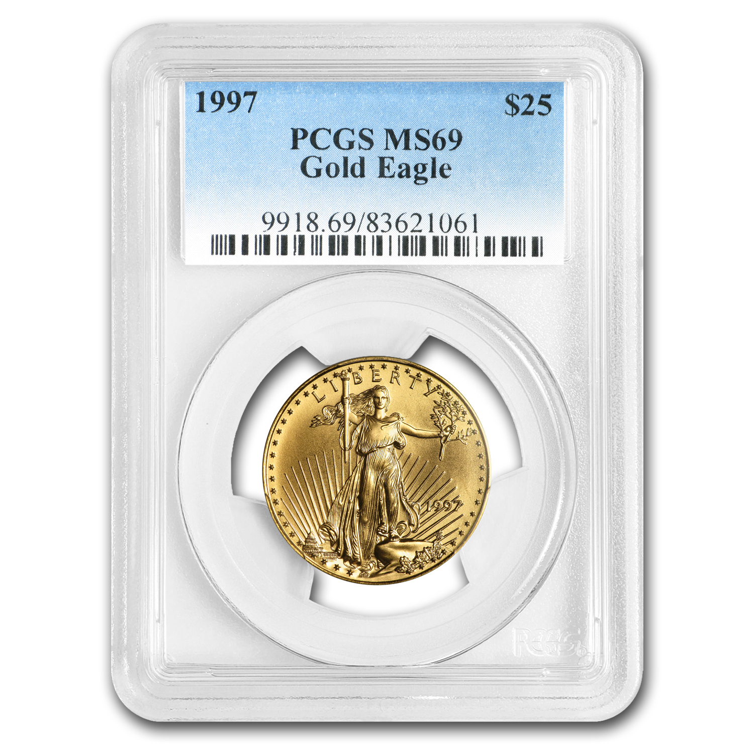 1997 1/2 oz Gold American Eagle MS-69 PCGS