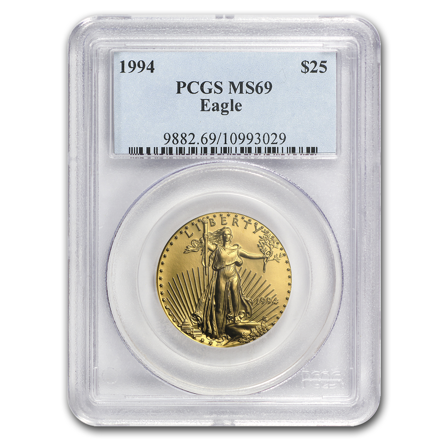 1994 1/2 oz Gold American Eagle MS-69 PCGS