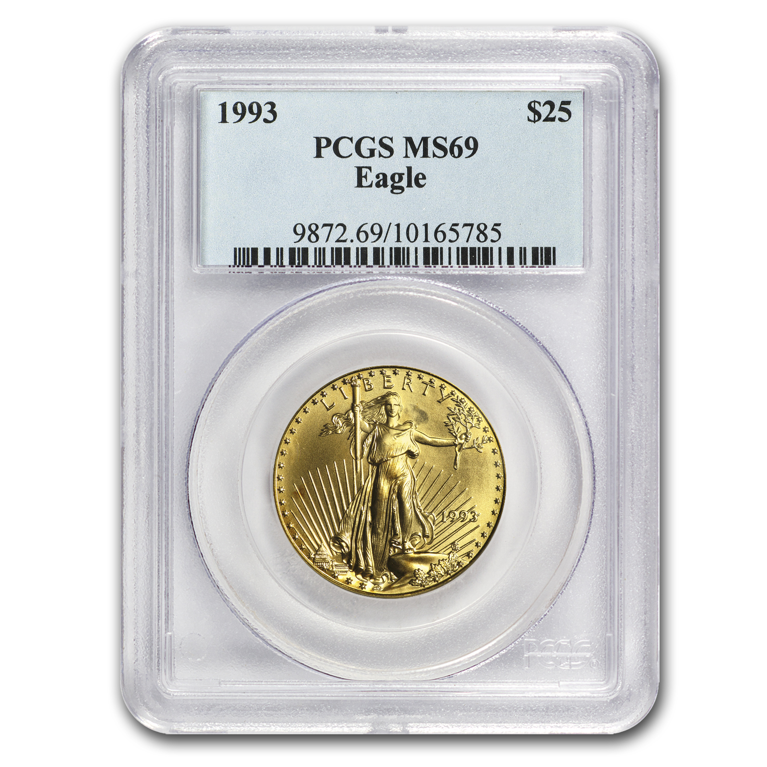 1993 1/2 oz Gold American Eagle MS-69 PCGS
