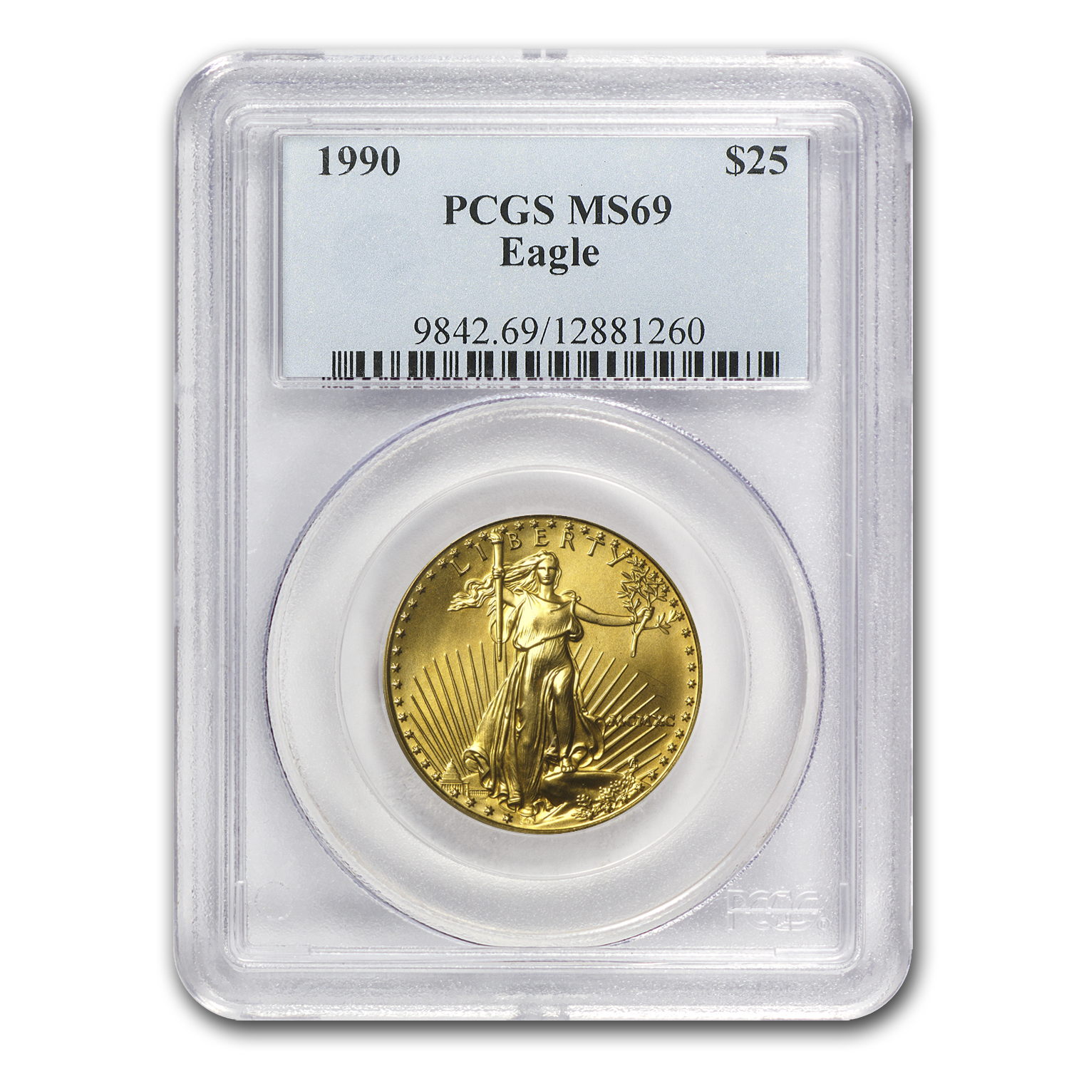 1990 1/2 oz Gold American Eagle MS-69 PCGS