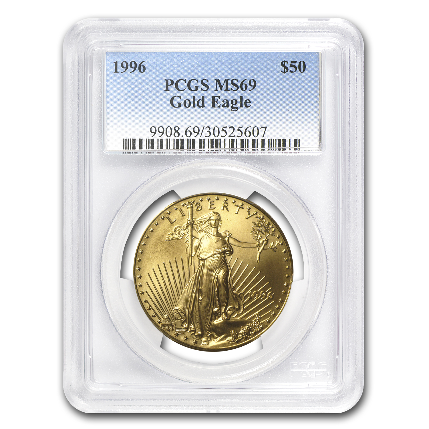 1996 1 oz Gold American Eagle MS-69 PCGS