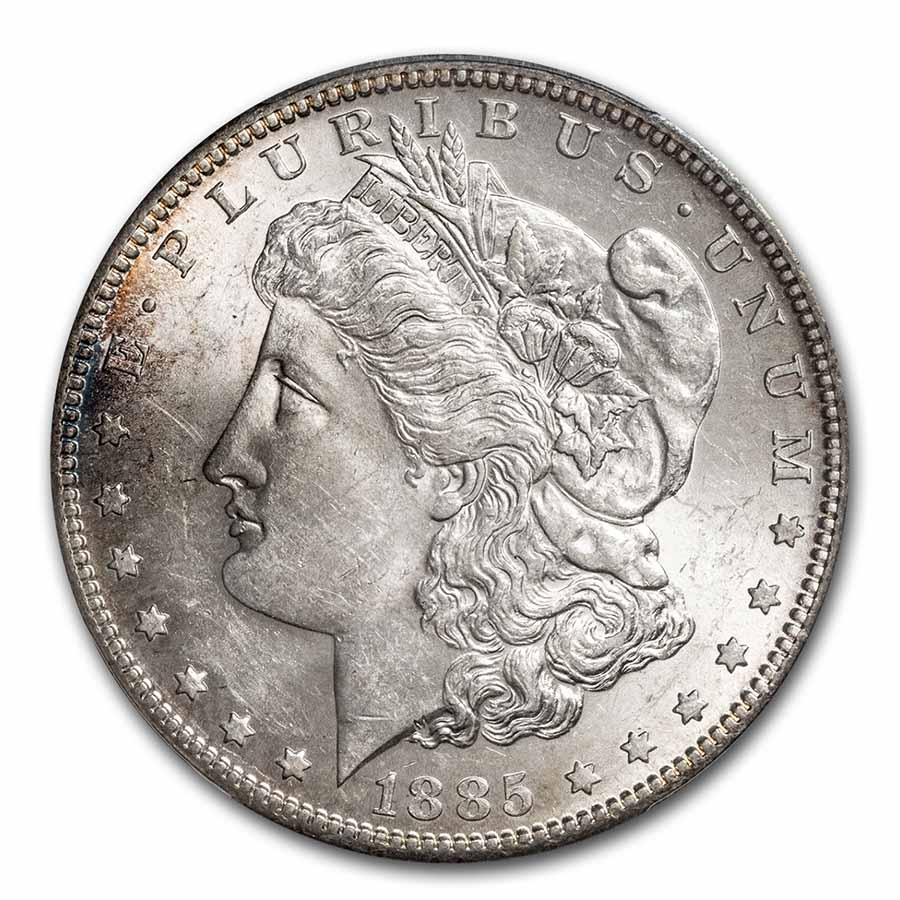 1885-S Morgan Dollar - MS-62 PCGS