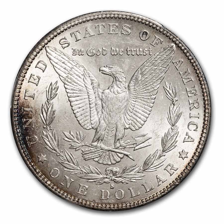 1885-S Morgan Dollar MS-62 PCGS