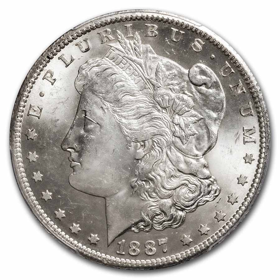 1887-S Morgan Dollar MS-63 PCGS