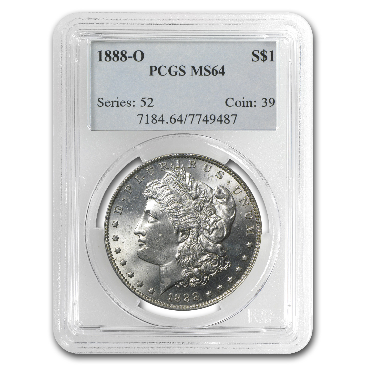 1888-O Morgan Dollar - MS-64 PCGS