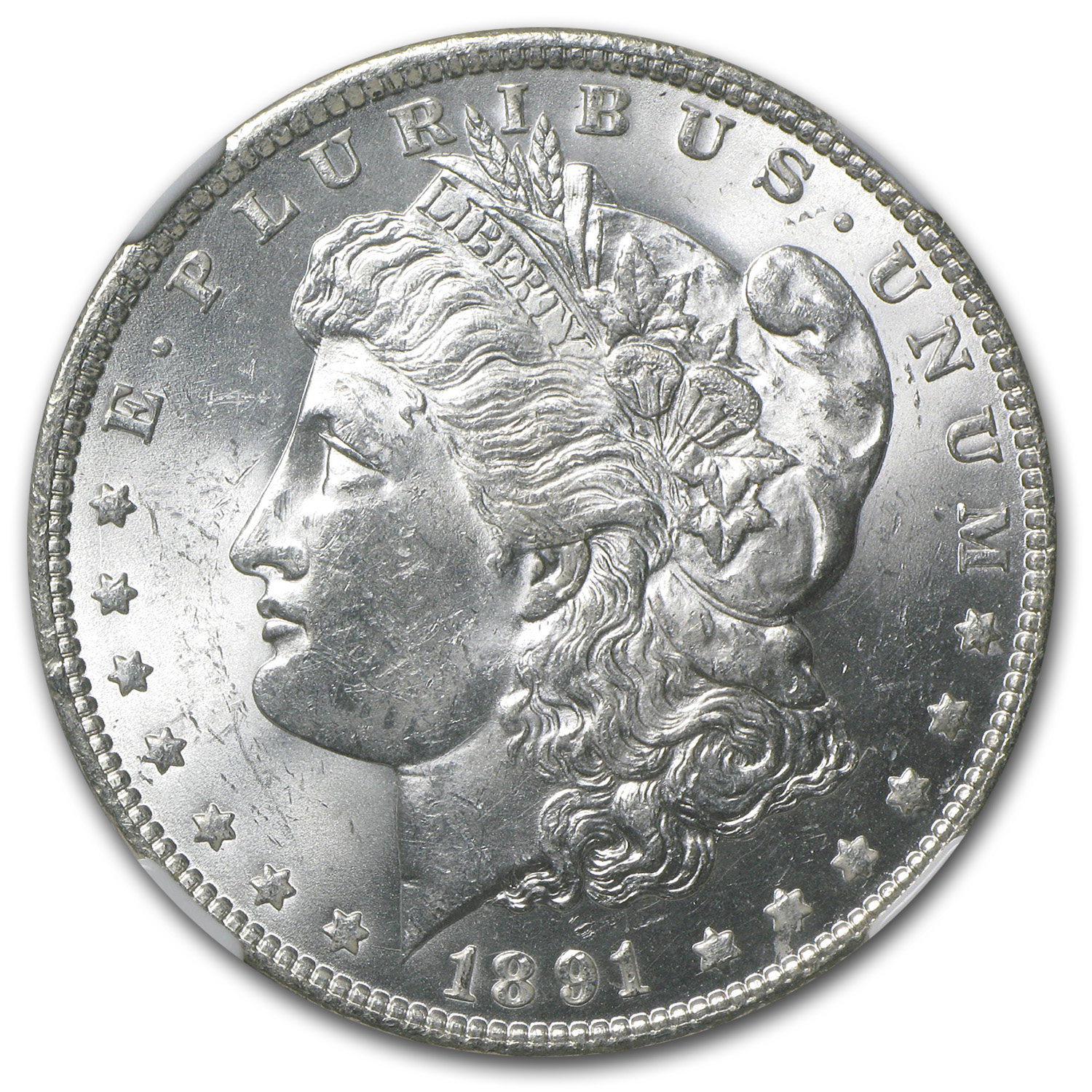 1891 Morgan Dollar MS-62 NGC