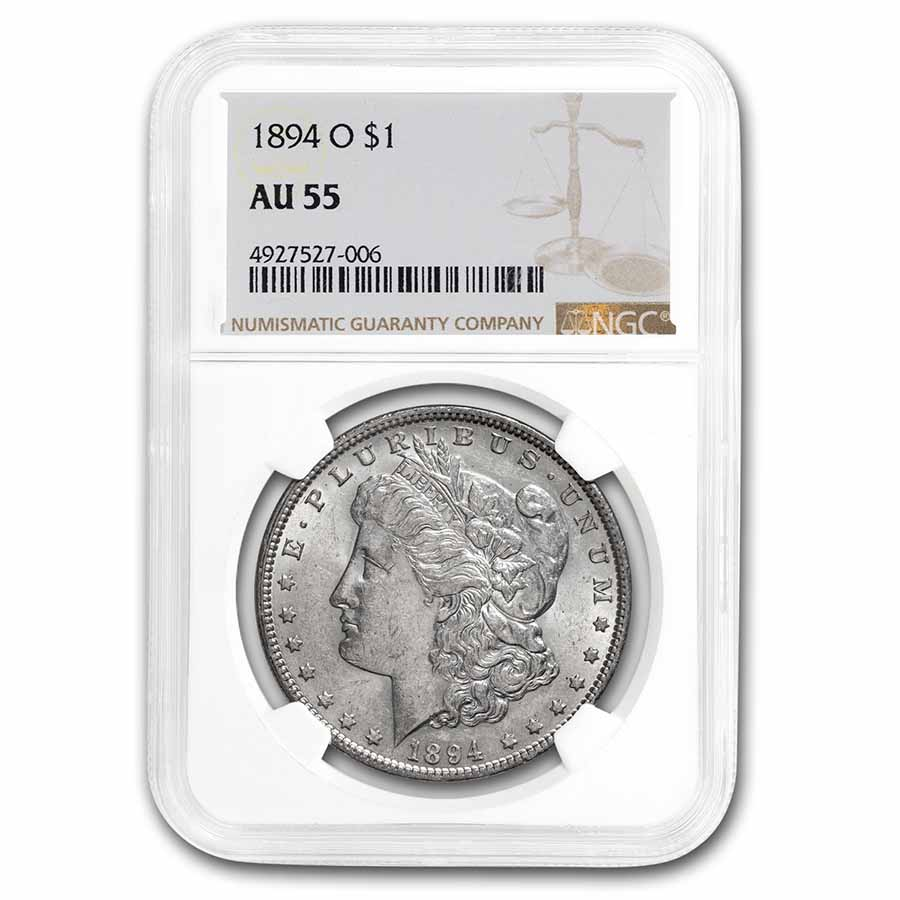 1894-O Morgan Dollar AU-55 NGC