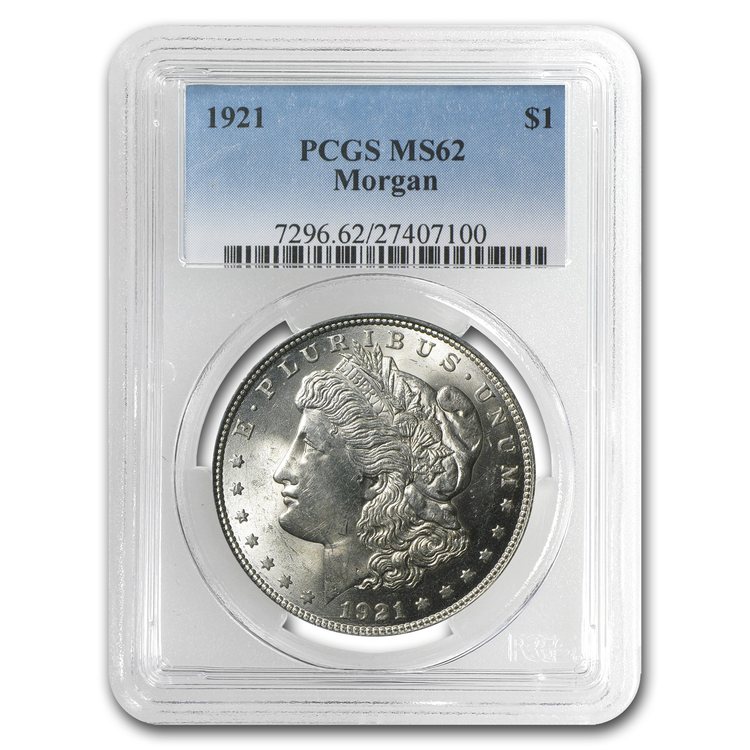 1921 Morgan Dollar MS-62 PCGS