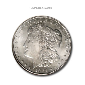 1921-S Morgan Dollar - MS-64 NGC