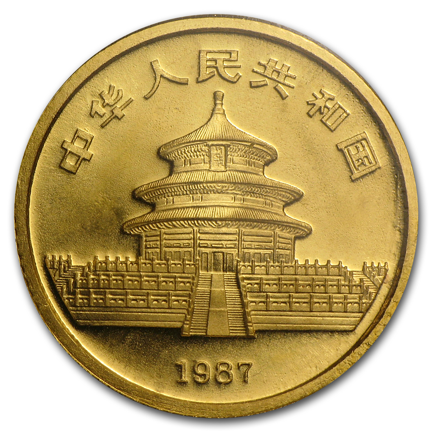 1987-S China 1/10 oz Gold Panda BU (Sealed)
