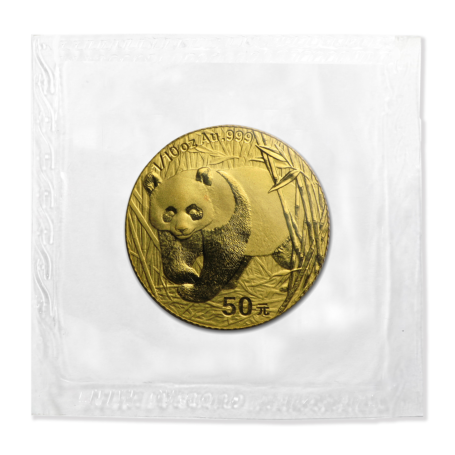 2001 (1/10 oz) Gold Chinese Pandas - (Sealed)