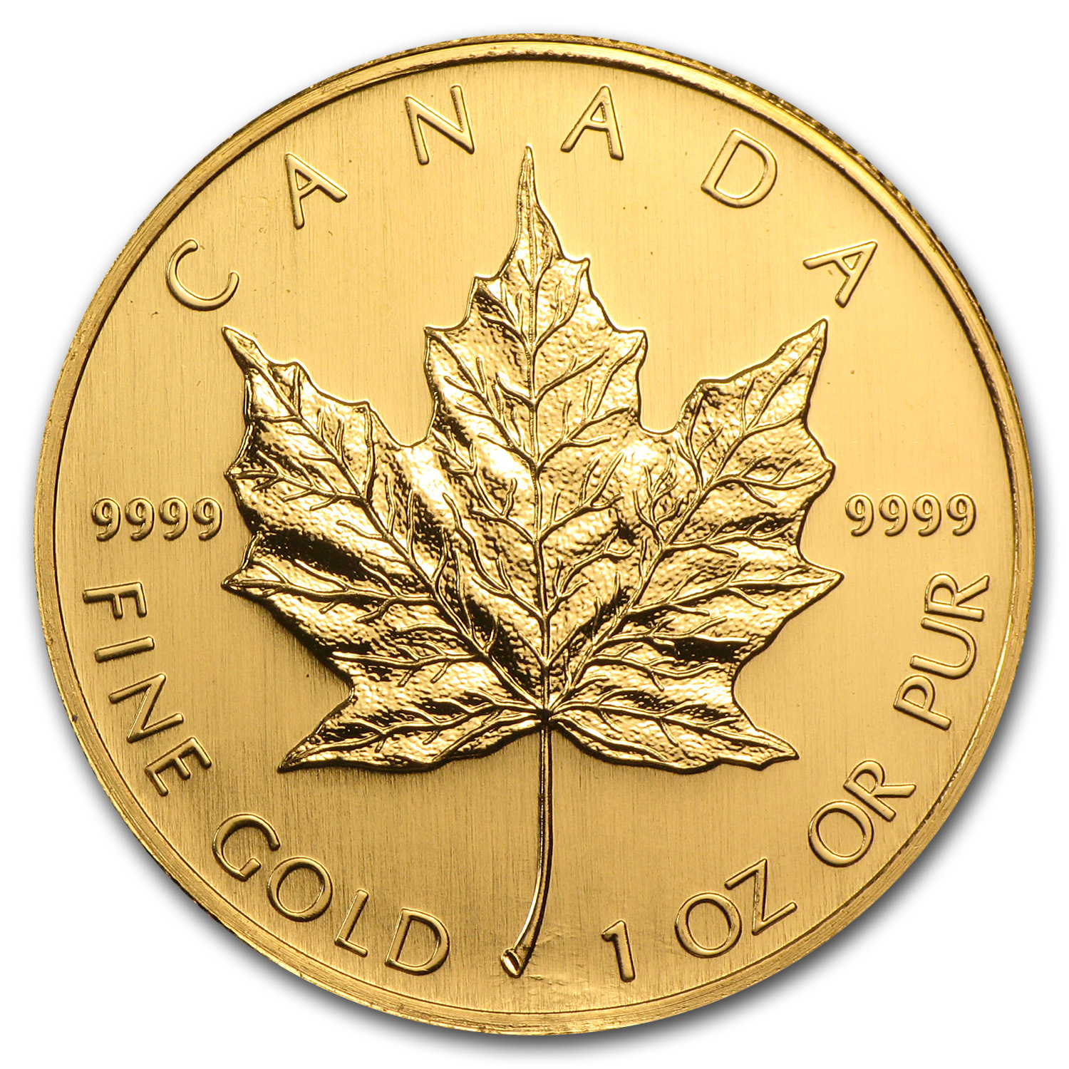 2006 1 oz Gold Canadian Maple Leaf BU