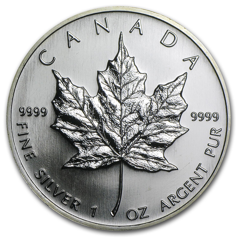 2006 Canada 1 Oz Silver Maple Leaf Bu Silver Maple Leafs