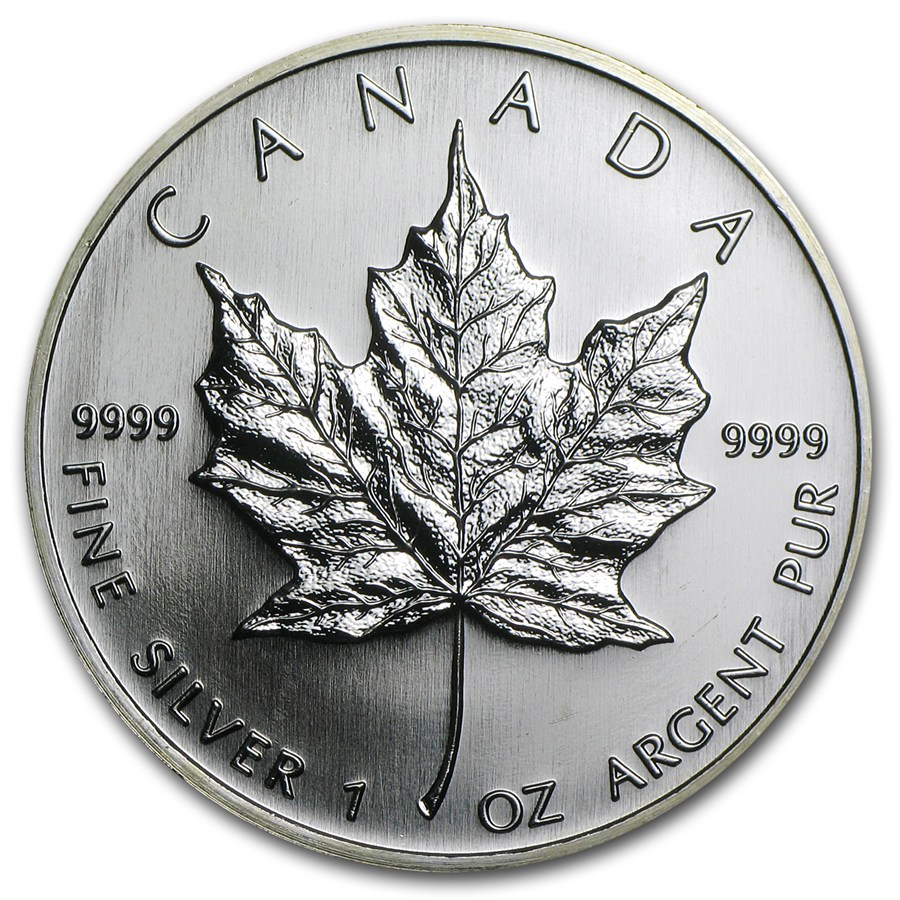 2006 Canada 1 oz Silver Maple Leaf BU | Silver Maple Leafs ...