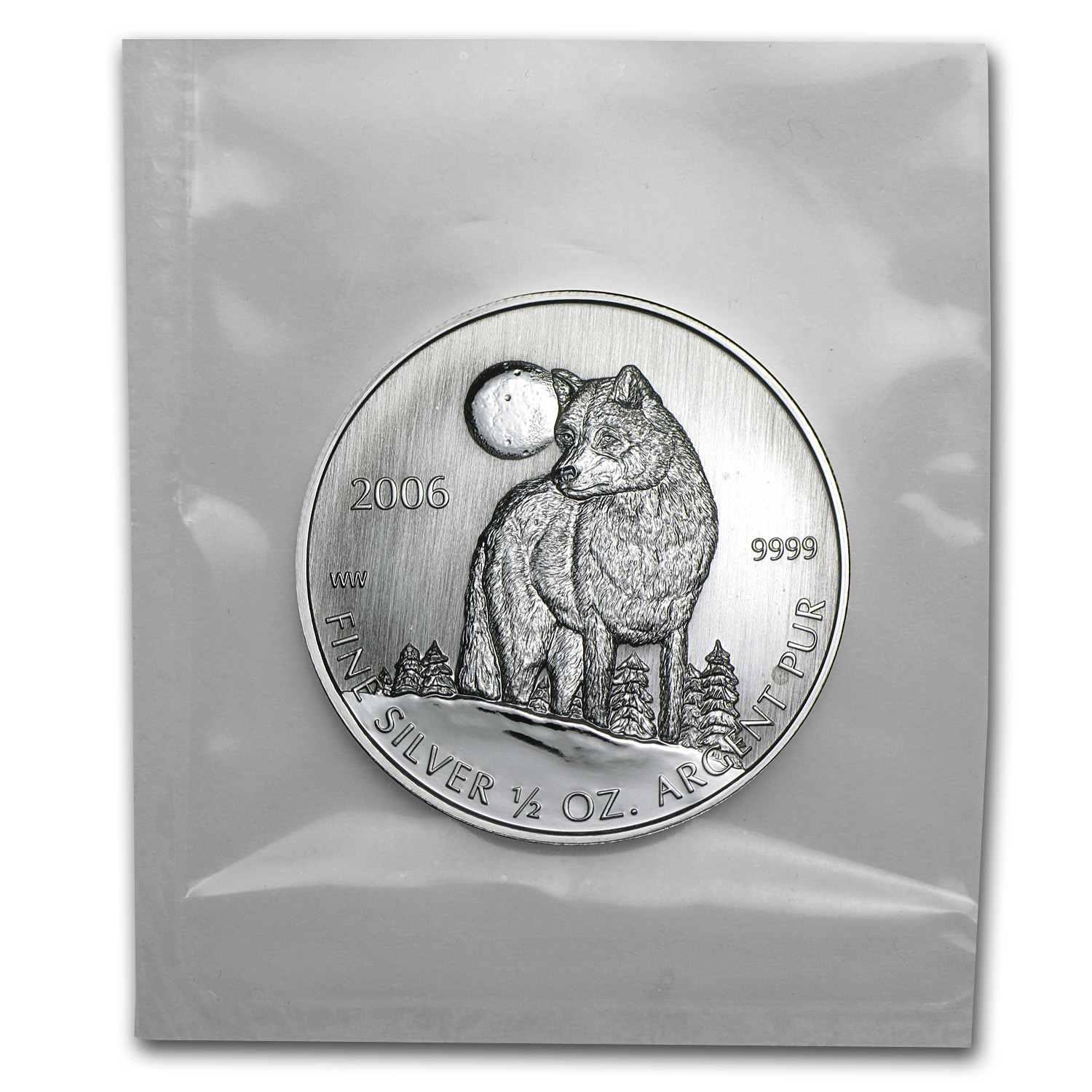 2006 Canada 1/2 oz Silver Timber Wolf Coin (Sealed)