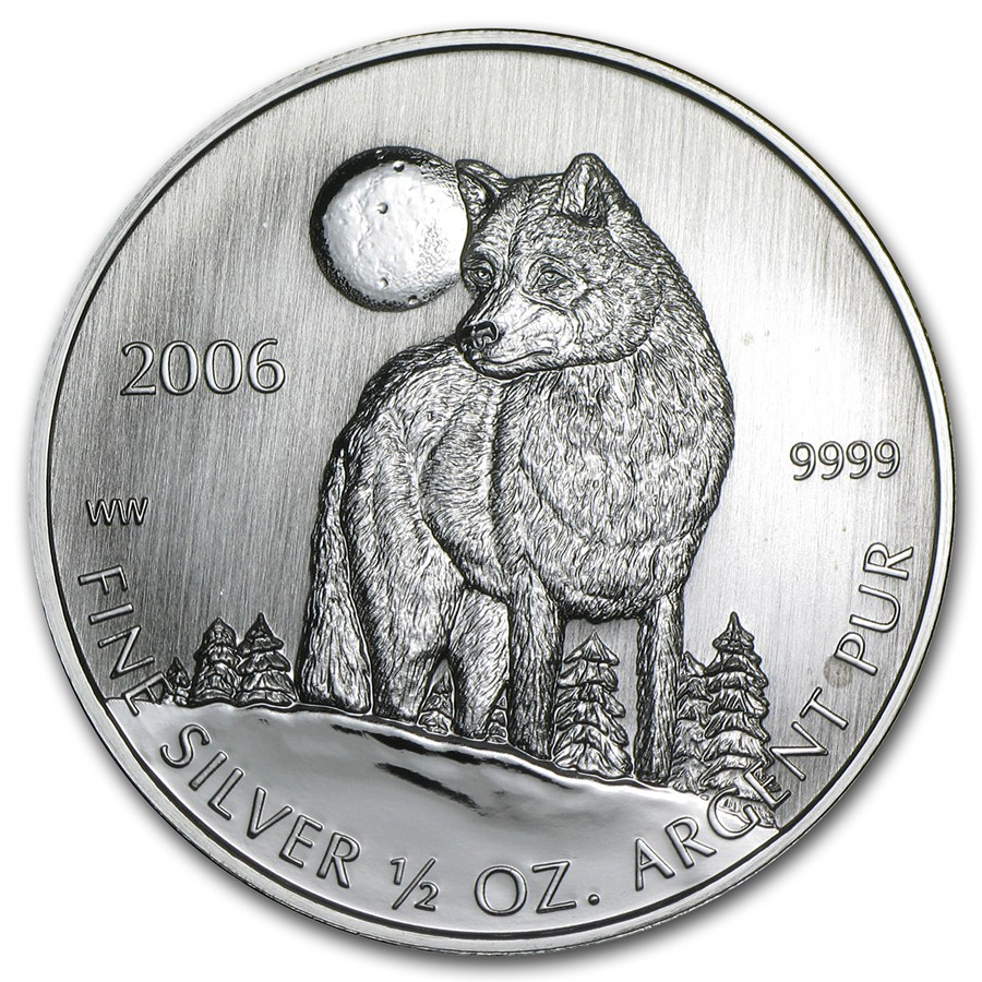 2006 Canada 1 2 Oz Silver Timber Wolf Coin Sealed 2006