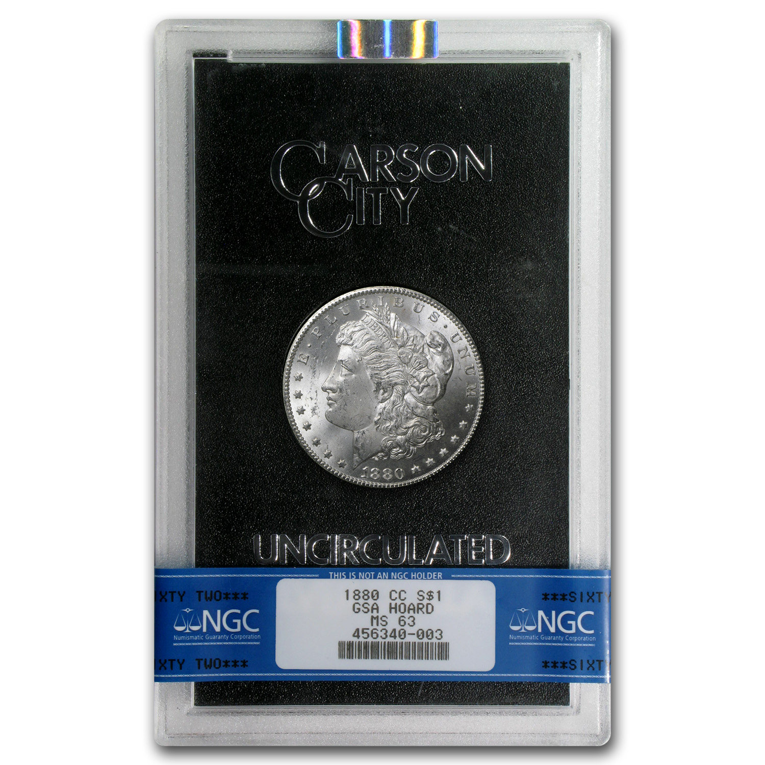 1880-CC Morgan Dollar MS-63 NGC - GSA Certified