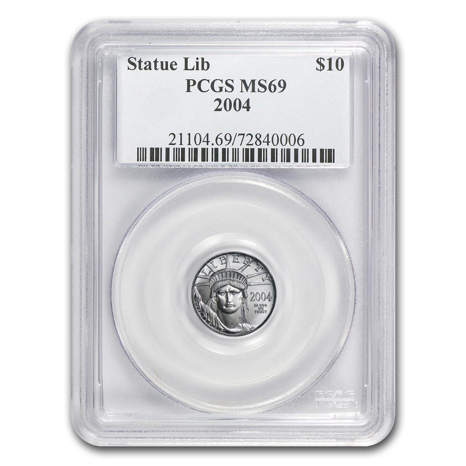 2004 1/10 oz Platinum American Eagle MS-69 PCGS
