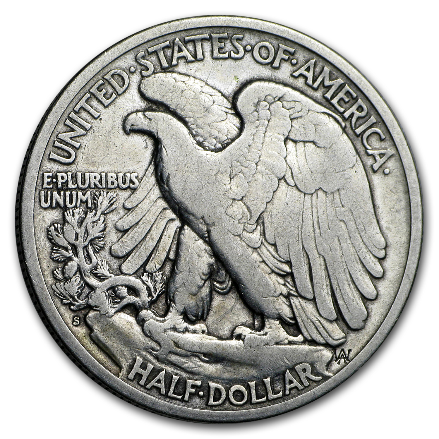 1921-S Walking Liberty Half Dollar VF Details