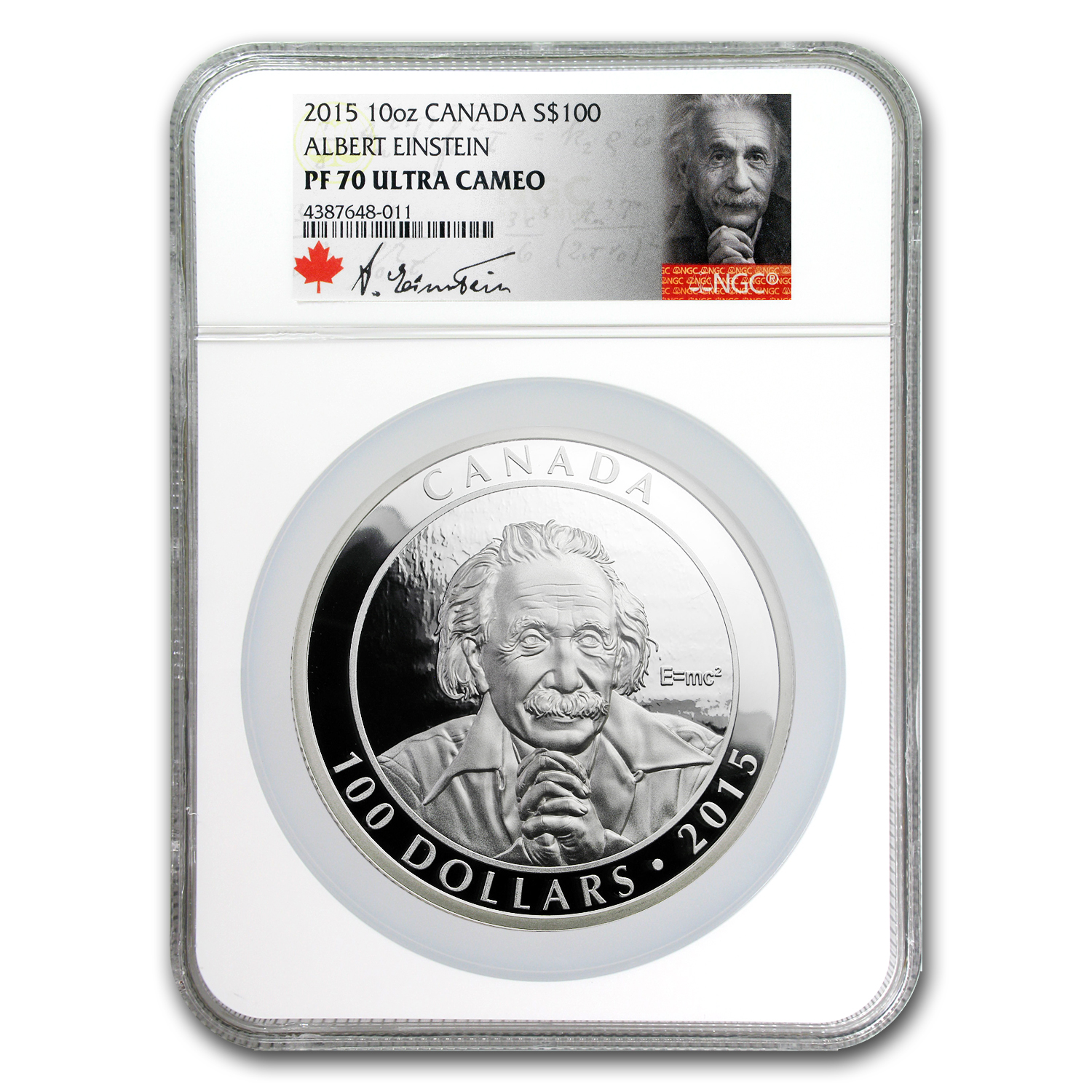 2015 Canada 10 oz Silver Einstein Theory of Relativity PF-70 NGC