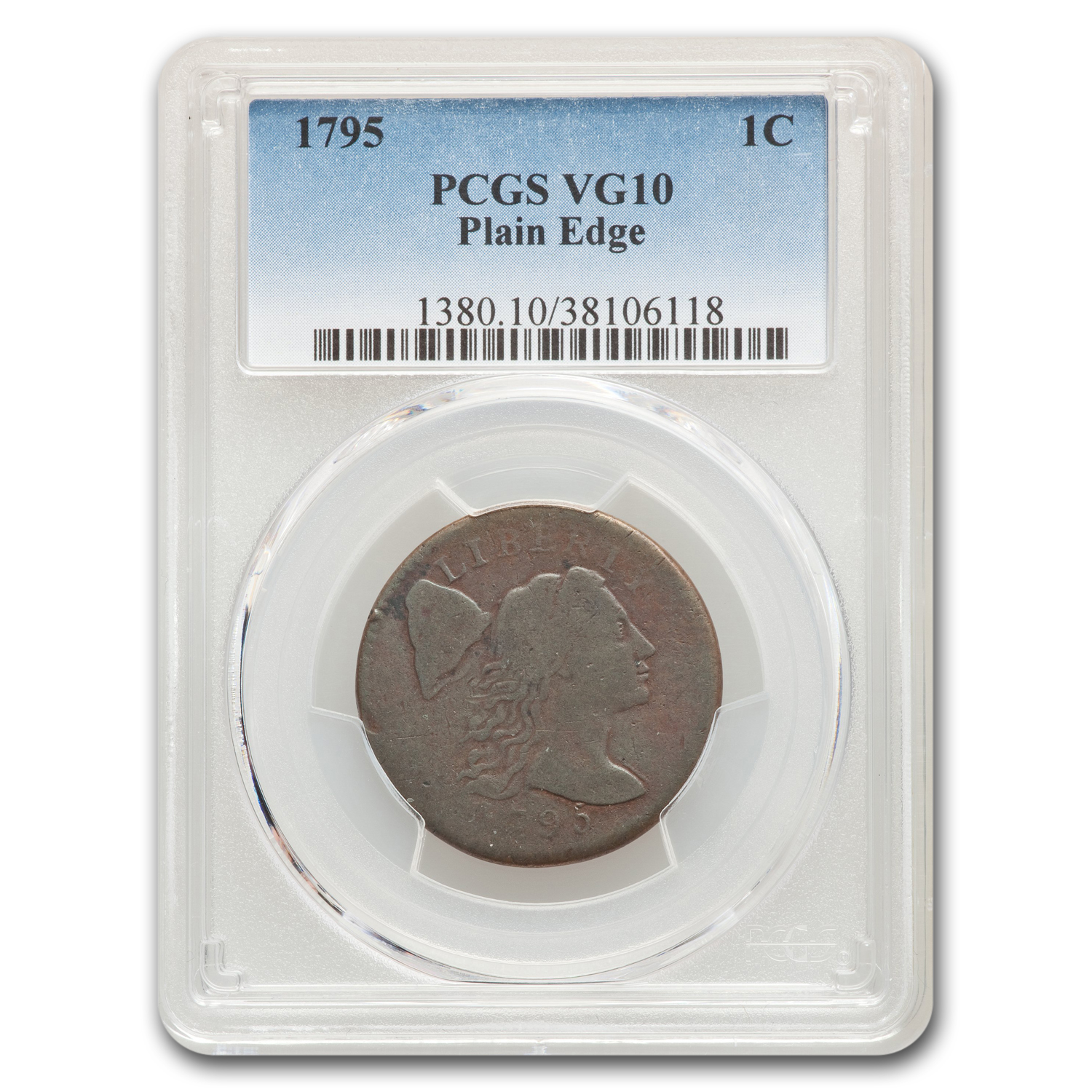 1795 Large Cent Plain Edge VG-10 PCGS