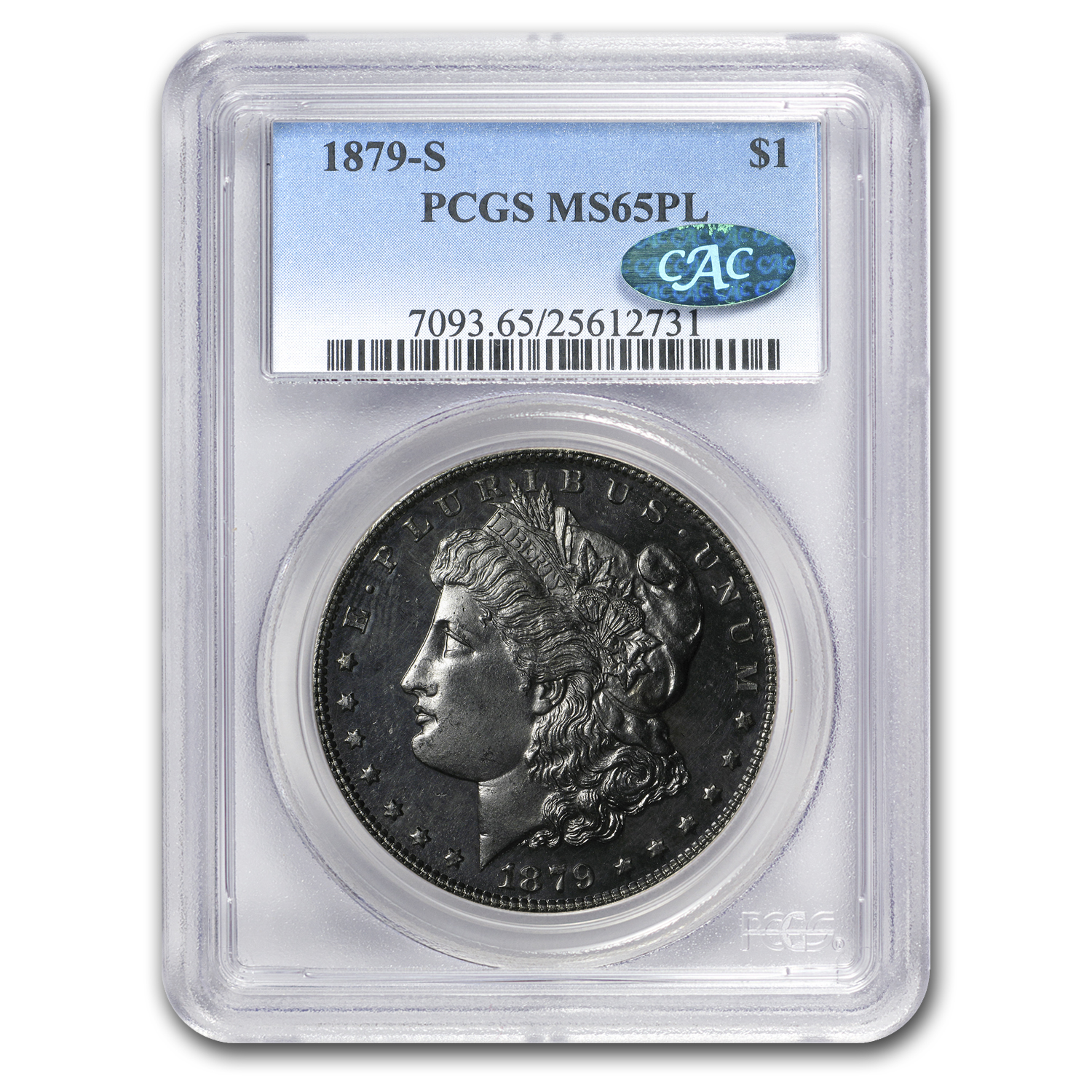 1879-S Morgan Dollar MS-65 PL PCGS (CAC)