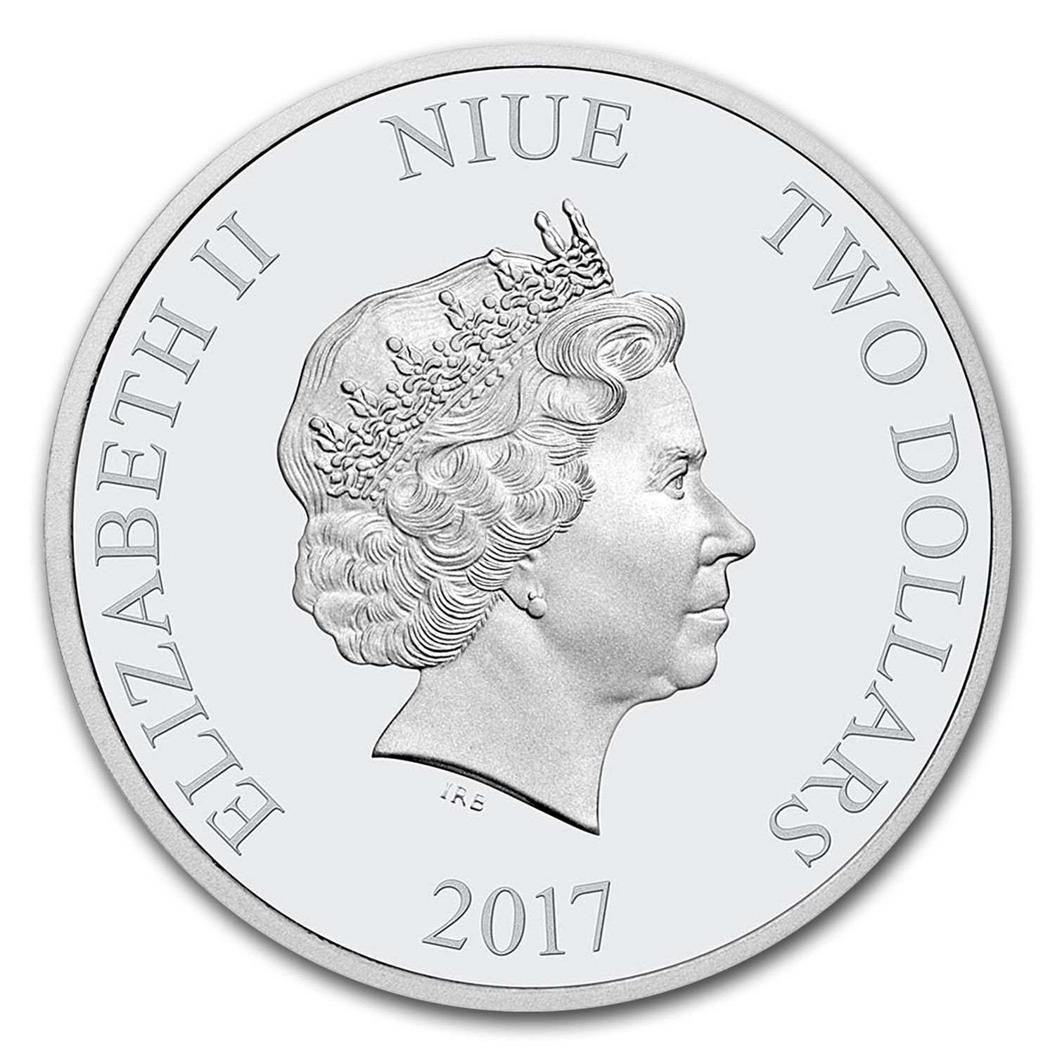2017 Niue 1 oz Silver $2 Disney Love Coin (Colorized)