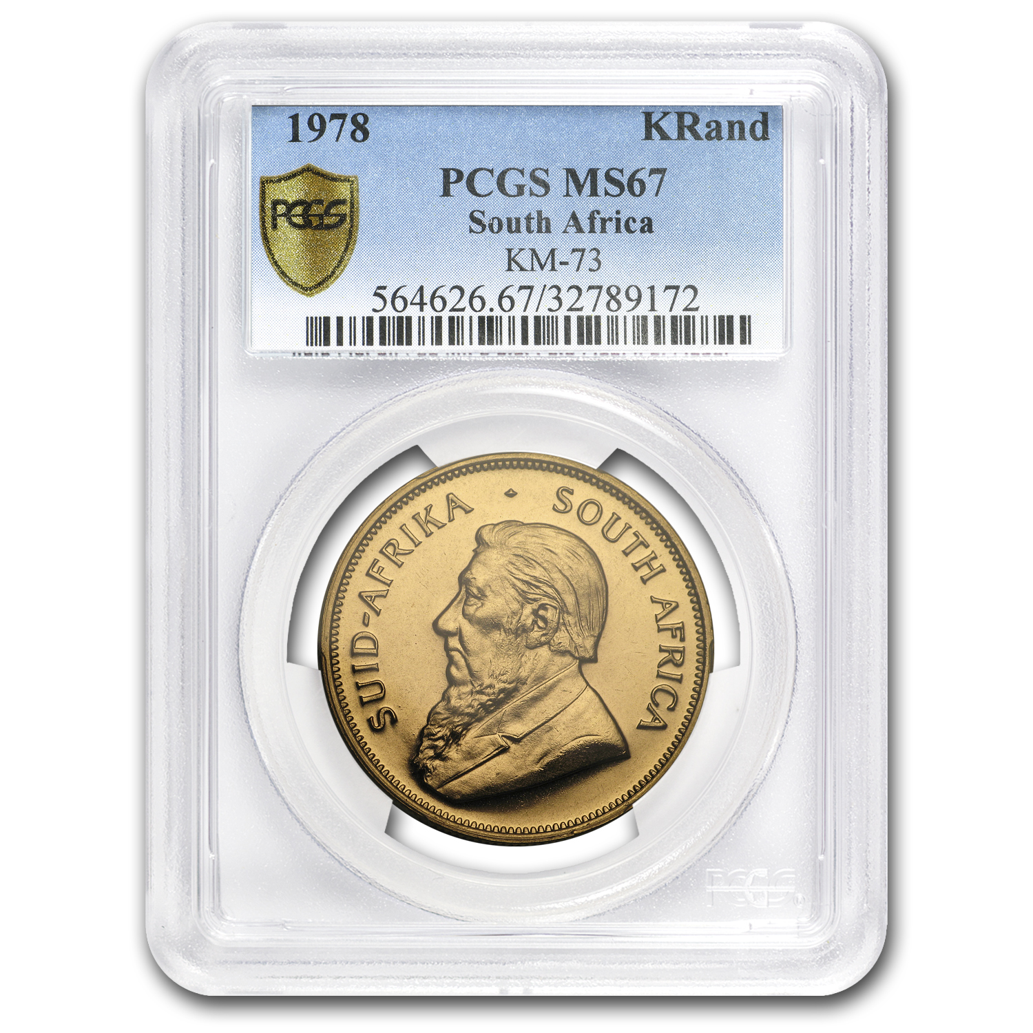 1978 South Africa 1 oz Gold Krugerrand MS-67 PCGS