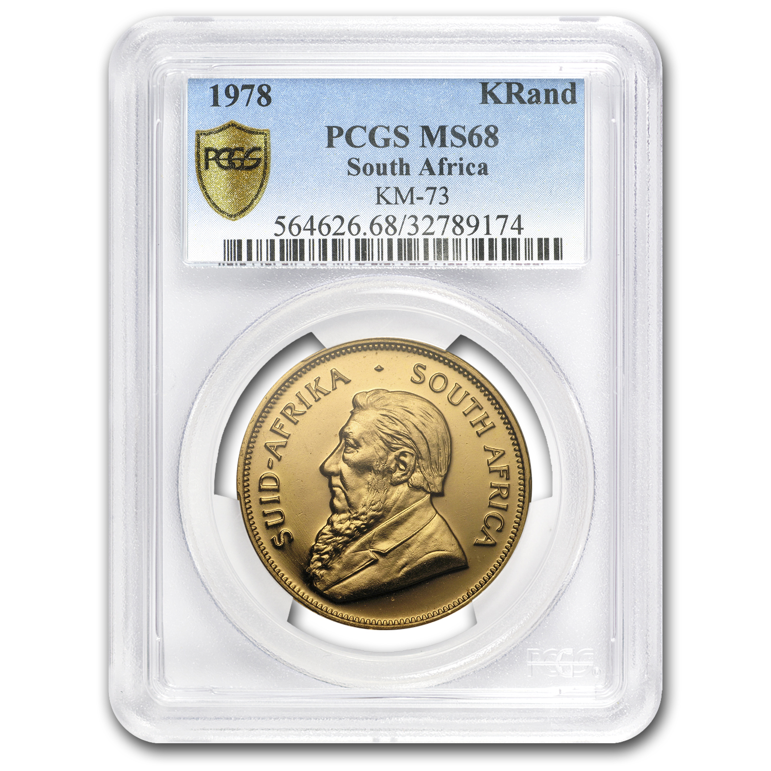 1978 South Africa 1 oz Gold Krugerrand MS-68 PCGS