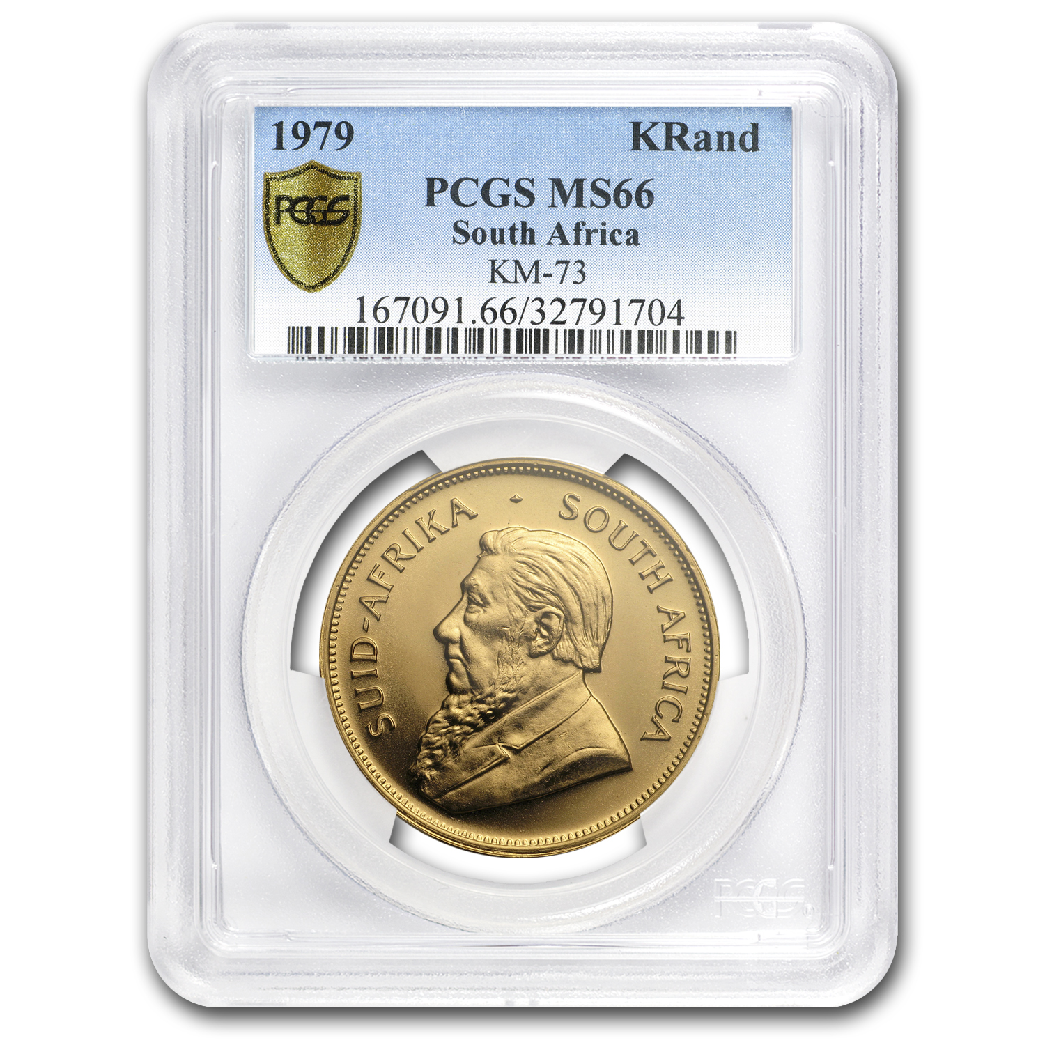 1979 South Africa 1 oz Gold Krugerrand MS-66 PCGS