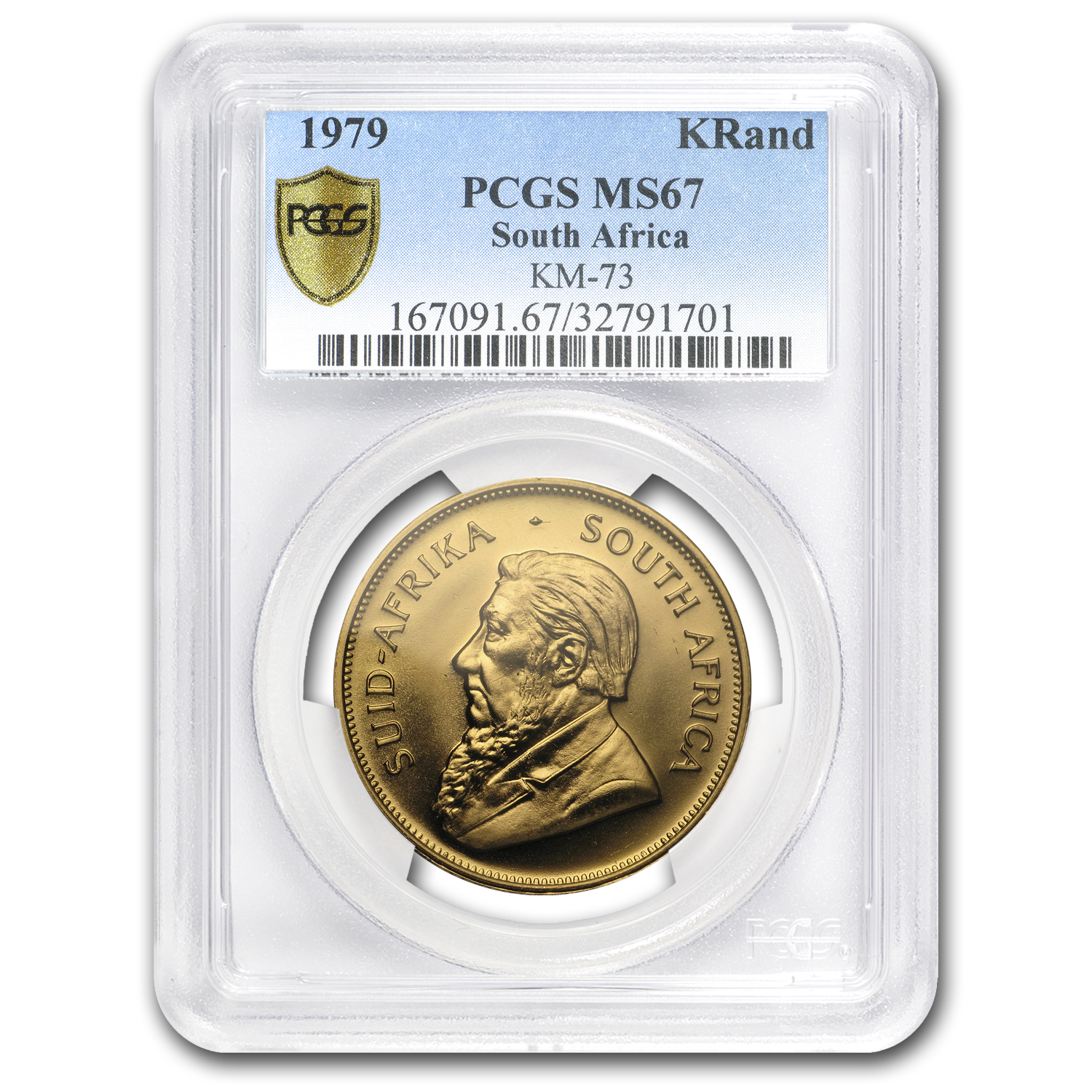 1979 South Africa 1 oz Gold Krugerrand MS-67 PCGS