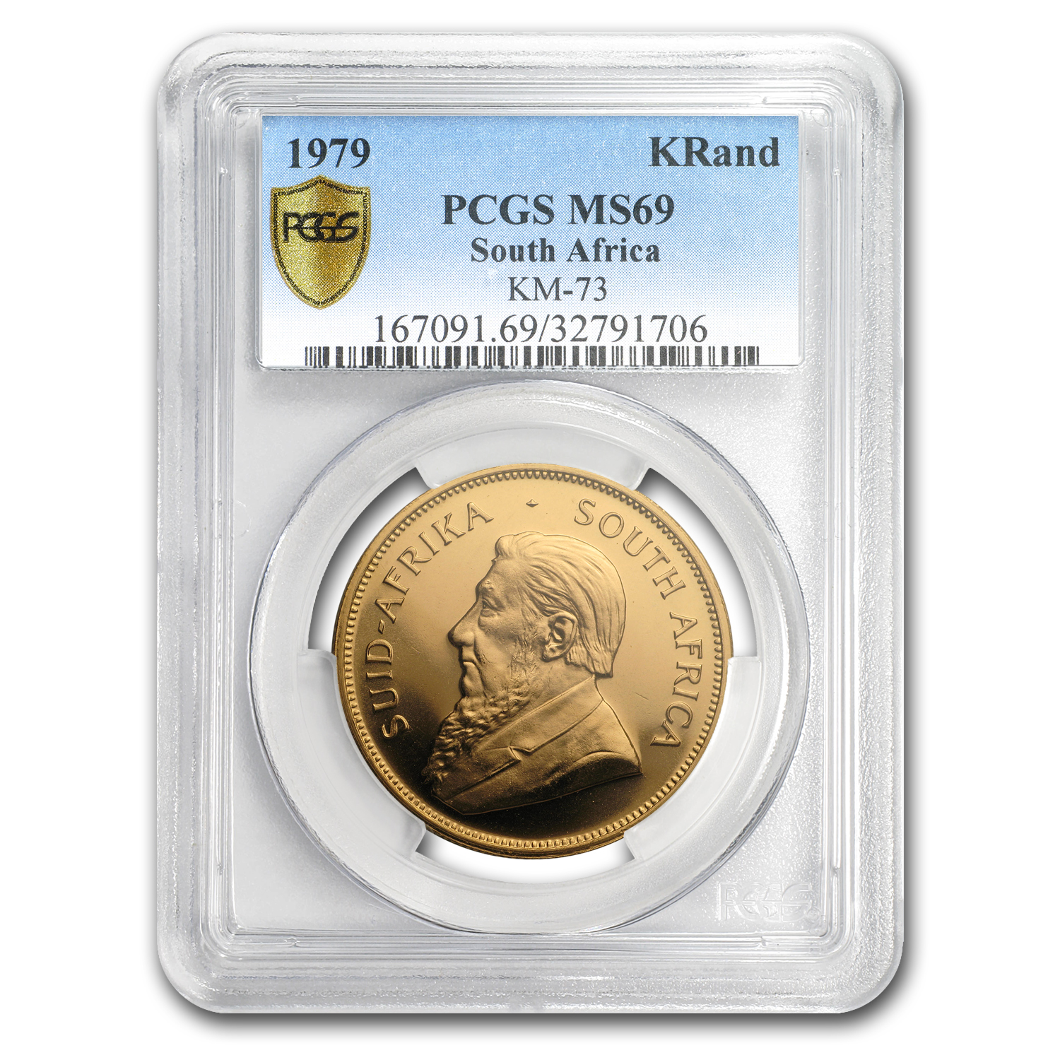 1979 South Africa 1 oz Gold Krugerrand MS-69 PCGS