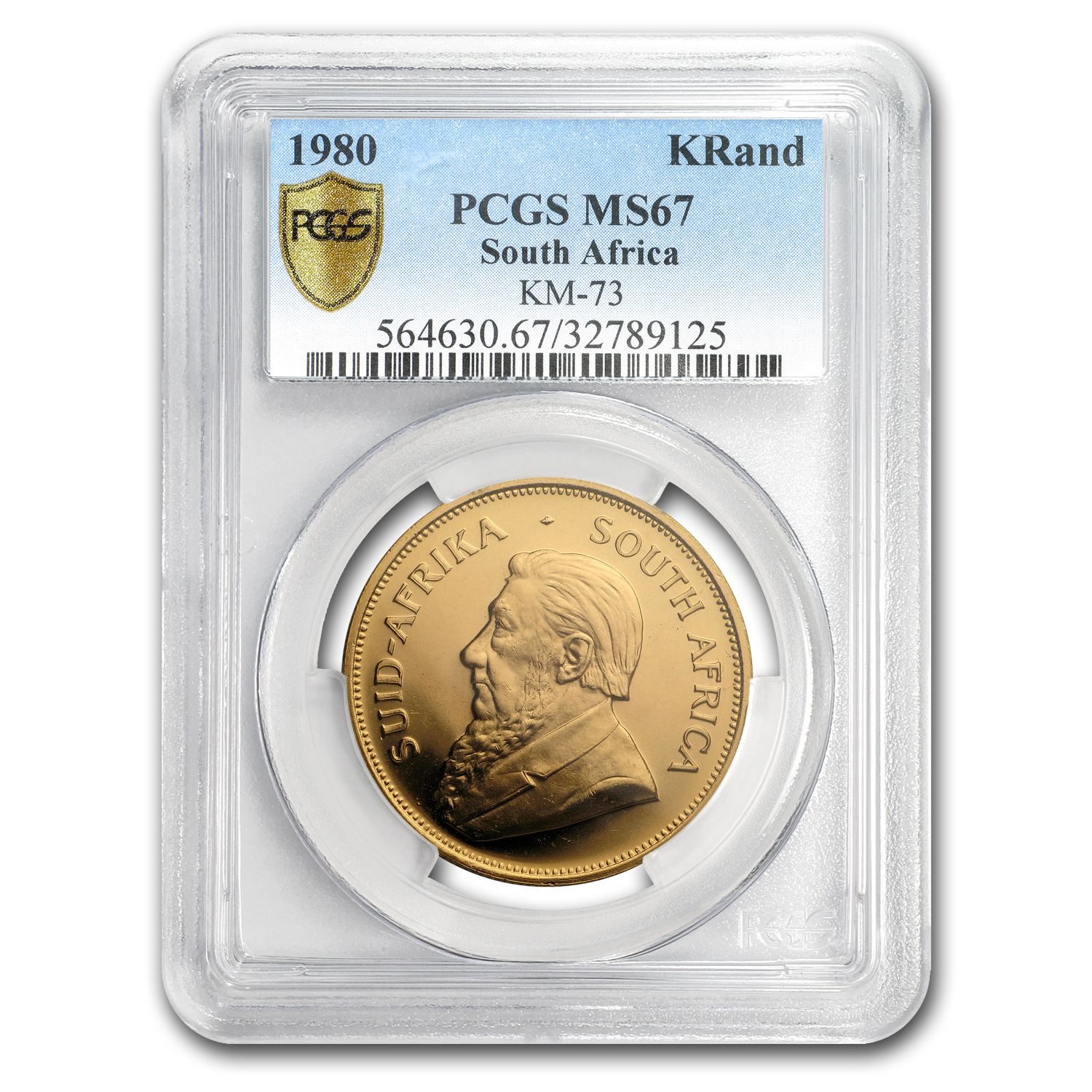 1980 South Africa 1 oz Gold Krugerrand MS-67 PCGS